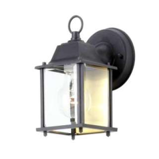 Hampton Bay Black 1 Light Outdoor Wall Lantern BPM1691 BLK at The Home