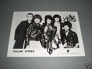 The Rolling Stones signed signiert Autogramm Keith Richards + Ron Wood
