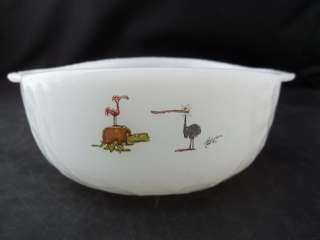 Anchor Hocking Fire King Milk Glass Hart Ice Age Bowl