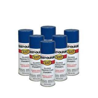 Rust Oleum Stops Rust 12 oz. Gloss Royal Blue Spray Paint (6 Pack