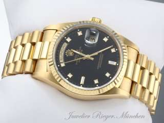 TOP ROLEX UHR DAY DATE DIAMANTEN GOLD 750