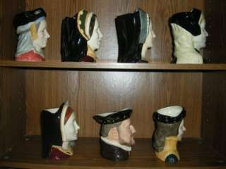 COMPLETE SET ROYAL DOULTON HENRY VIII AND HIS SIX WIVES TOBY MUG SET