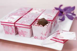 Brocade Favor Boxes Wedding Cherry Blossom Bridal Shower Spring
