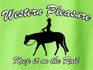 Western Pleasure Horse & Rider T Shirt  Pick Your Color