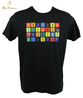 Mens The Beatles by Ben Sherman T Shirt Numbers Black