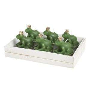 Green Frog Crown Prince Animal T lights Boxed Gift