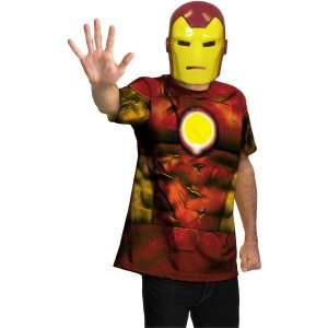 Iron Man Shirt And Mask Adult Costume, 69975