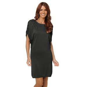 IMAN Global Chic Flatter Yourself Button Sleeve Knit Dress