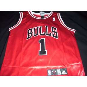 Derrick Rose Adidas Road Red Chicago Bulls Jersey Size 44