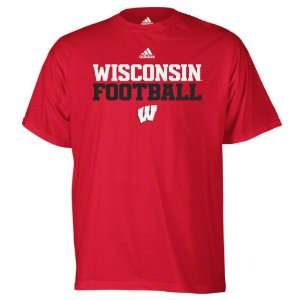 Wisconsin Badgers Red adidas 2011 Football Practice T