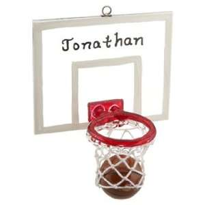 Personalized Basketball Hoop Christmas Ornament