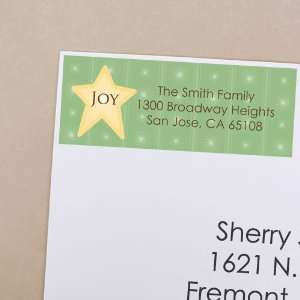 O Christmas Tree   30 Personalized Christmas Return Address