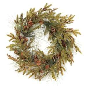 Pack of 2 Going Greens Artificial Pine and Pinecone Christmas Wreaths