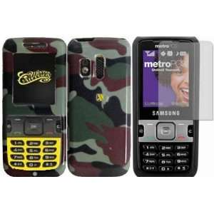 Camouflage Hard Case Cover+LCD Screen Protector for Samsung Messager
