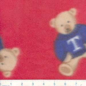 Fleece Sweater Teddy Bear Red Fabric By The Yard Arts, Crafts