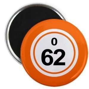 Ball O62 Sixty two Orange 2.25 Inch Fridge Magnet