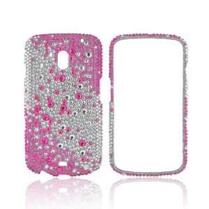 Silver Gems Bling Hard Plastic Shell Case Snap On Cover Electronics