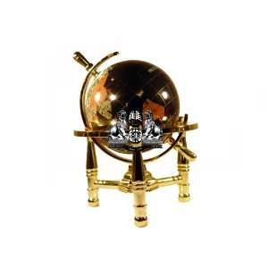 Leg Table Stand Gemstone World Map Globe