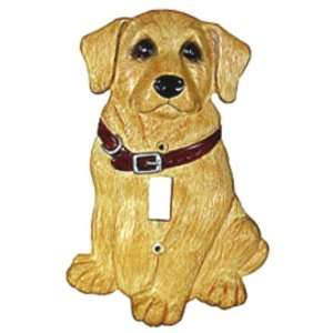 YELLOW LAB dog puppy SWITCH PLATE single home decor pup