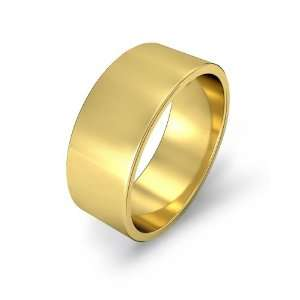 8g Mens Flat Wedding Band 8mm 18k Yellow Gold Ring (7.5) Jewelry