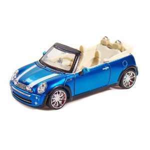 Mini Cooper 1/24 Metallic Light Blue Toys & Games