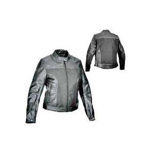 River Road Ladies Pecos Leather Mesh Jacket 2X Large Automotive
