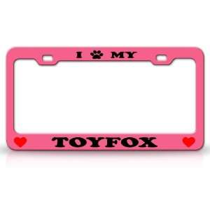 Animal High Quality STEEL /METAL Auto License Plate Frame, Pink/Black