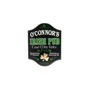 Cead Mile Failte Irish Pub Personalized Wooden Sign