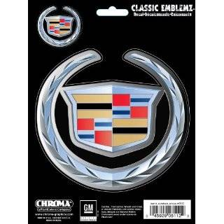 2PC Decal Sticker Emblem   Cadillac Logo