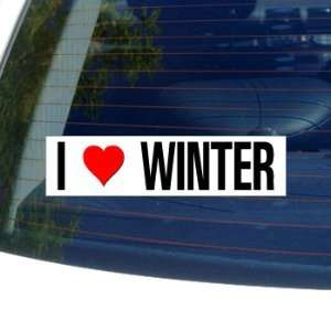 I Love Heart WINTER   Window Bumper Laptop Sticker