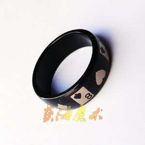 black pattern magnetic ring magic ring magic props magic