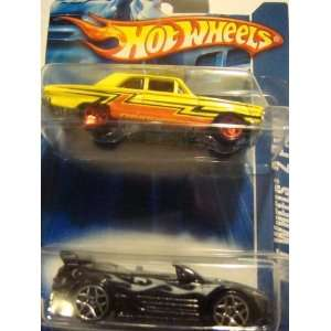 Hot Wheels 2 Pack Mitsubishi Eclipse   Black with Silver Flamz, No Top