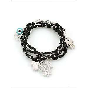 Fashion Jewelry Desinger Inspired Evil Eye and Hamsa Symbol Bracelet