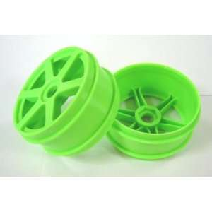 Racers Edge 1/8 Buggy 6 Spoke Wheels Green (2) RCEK8002G  Toys