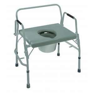 Extra Wide Heavy Duty Drop Arm Steel Commode, 2/Carton