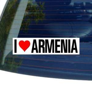 I Love Heart ARMENIA   Window Bumper Sticker Automotive