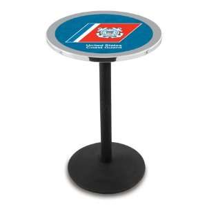 36 US Coast Guard Counter Height Pub Table   Round Base