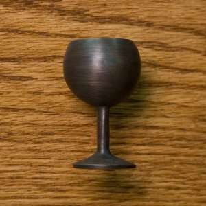 Wine Glass Cabinet Knob   Oil Rubbed Bronze