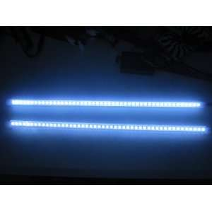 2 X 50CM FLASH WHITE KNIGHT RIDER 48 LED STRIP LIGHT CAR
