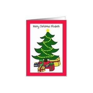 Elizabeth Christmas Tree Letter from Santa Card