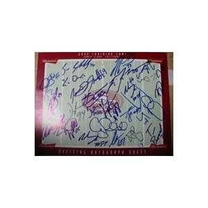San Francisco 49ers Signed 2005 Autograph Sheet (21 Signatures in All