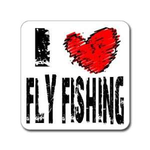 I Love Heart FLY FISHING   Window Bumper Laptop Sticker