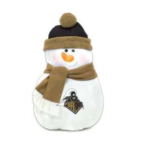 22 NCAA Purdue Boilermakers Plush Snowman Christmas Throw