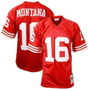Joe Montana #16 San Francisco 49ers Replica Throwback NFL Jersey Red