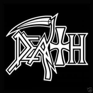 Death Logo Heavy Metal Band Vinyl Decal Sticker 5 x 5