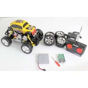 Control Monster Truck with Extra Grip Tires and Rechargeable Batteries