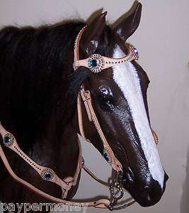 RHINESTONE BLING BRIDLE HEADSTALL REINS BREAST COLLAR SET FREE SHIP